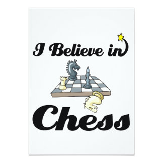 i believe in chess 13 cm x 18 cm invitation card