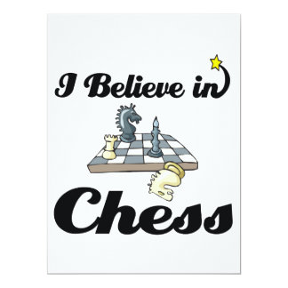 i believe in chess 17 cm x 22 cm invitation card