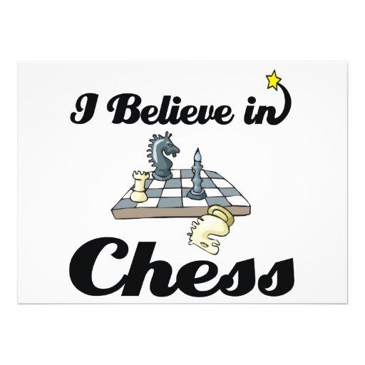 i believe in chess custom invitation