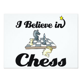 i believe in chess 14 cm x 19 cm invitation card