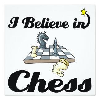 i believe in chess 13 cm x 13 cm square invitation card