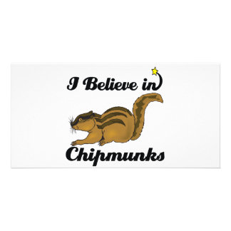i believe in chipmunks custom photo card