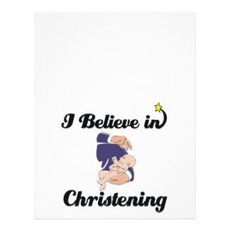 i believe in Christening Flyer