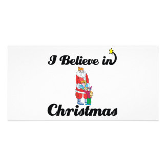 i believe in christmas photo cards