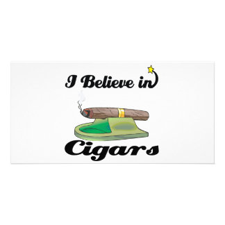 i believe in cigars customized photo card