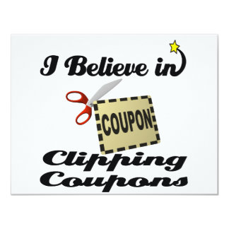 i believe in clipping coupons personalized invite