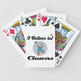 i believe in clowns bicycle playing cards