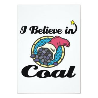 i believe in coal 13 cm x 18 cm invitation card