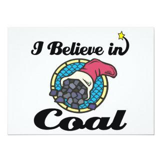i believe in coal 14 cm x 19 cm invitation card