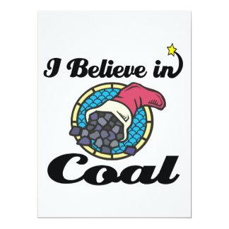 i believe in coal 17 cm x 22 cm invitation card