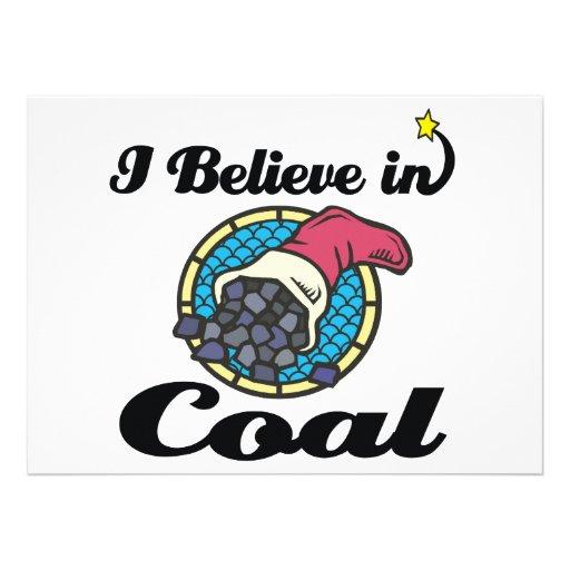 i believe in coal invitation