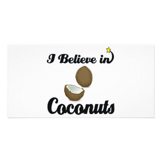 i believe in coconuts customised photo card