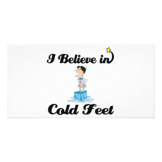i believe in cold feet photo card template