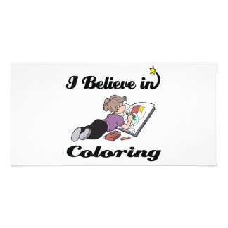 i believe in coloring photo greeting card