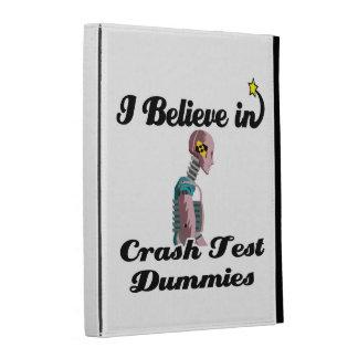 i believe in crash test dummies iPad folio cases