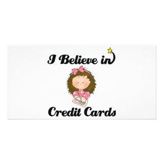 i believe in credit cards custom photo card