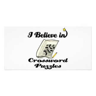 i believe in crossword puzzles photo card template