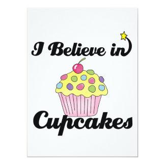 i believe in cupcakes 17 cm x 22 cm invitation card