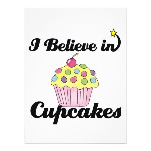 i believe in cupcakes custom announcements