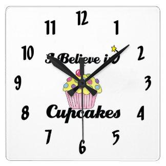 i believe in cupcakes wallclocks