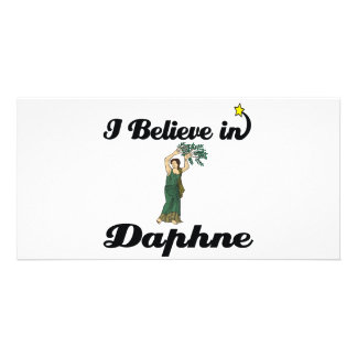 i believe in daphne photo card template