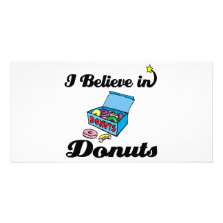 i believe in donuts customised photo card