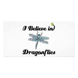i believe in dragonflies photo card template