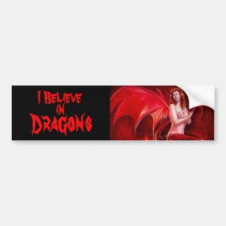 I Believe in Dragons Bumper Sticker