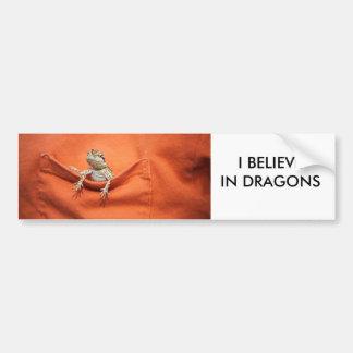 I believe in dragons bumper sticker bearded dragon