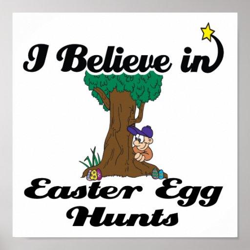 i believe in easter egg hunts poster