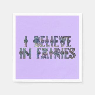 I Believe In Fairies Celtic Knot Design Disposable Serviette