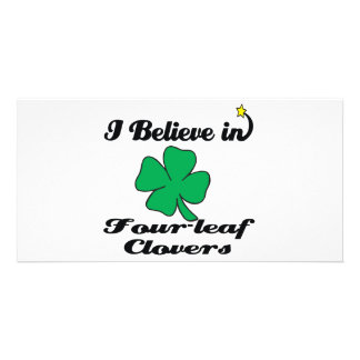 i believe in four-leaf clovers photo cards