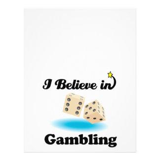 i believe in gambling 21.5 cm x 28 cm flyer