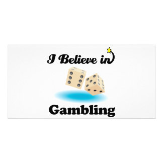 i believe in gambling picture card
