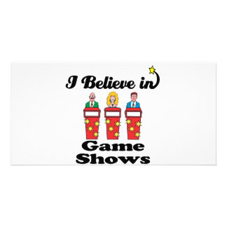 i believe in game shows photo card template
