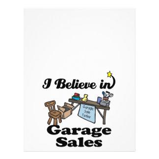 i believe in garage sales flyers