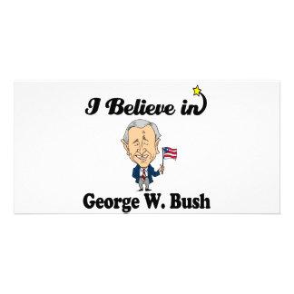 i believe in george w bush photo cards