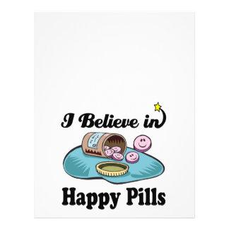 i believe in happy pills 21.5 cm x 28 cm flyer