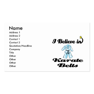 i believe in karate belts pack of standard business cards