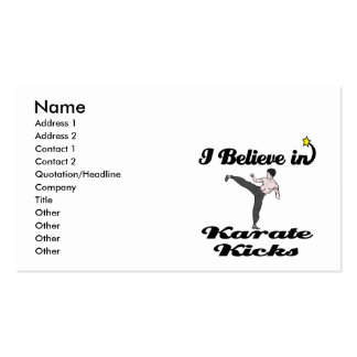i believe in karate kicks pack of standard business cards