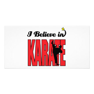 i believe in karate personalized photo card