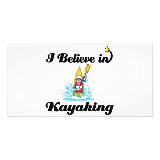 i believe in kayaking photo card template