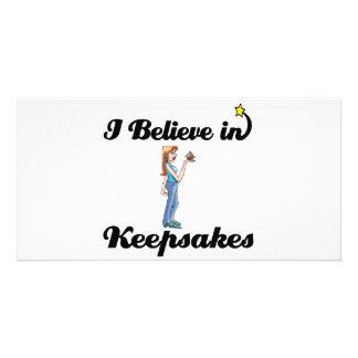 i believe in keepsakes personalized photo card