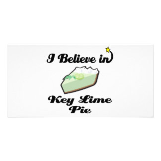i believe in key lime pie customised photo card