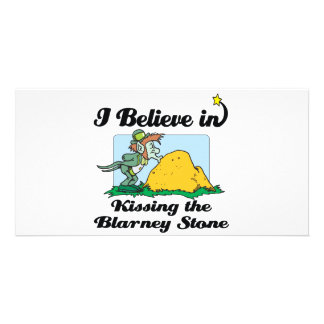 i believe in kissing the blarney stone photo greeting card