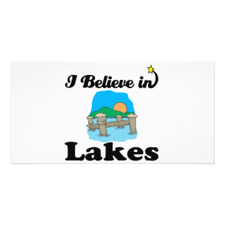 i believe in lakes customised photo card