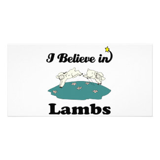 i believe in lambs photo card template