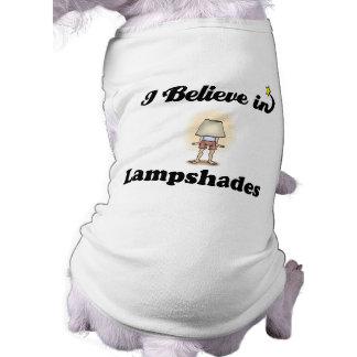 i believe in lampshades sleeveless dog shirt