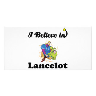 i believe in lancelot personalised photo card