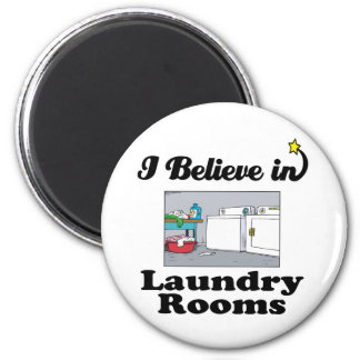 i believe in laundry rooms magnet